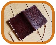 Travel Organizer Wallet – Dark Brown Leather - Passport Cover – Travel Documents and Notebook Holder - Handcrafted – Hand tooled – Rustic Leather Carving, Leather Art, Leather Tooling, Leather And Lace, Tan Leather, Leather Wallet, Festival Accessories, Passport Cover, Dark Brown Leather
