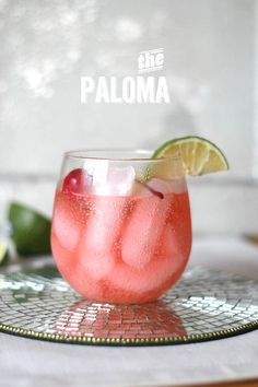 The Paloma Cocktail ~  Tequila,  Grapefruit soda and lime juice