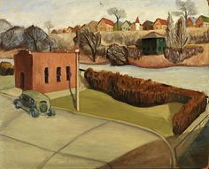 River, ca. 1933-1934, Carroll N. Bailey, oil on fiberboard, 29 7/8 x 36 in. (76 x 91.3 cm), Smithsonian American Art Museum, Transfer from the U.S. Department of Labor, 1964.1.108