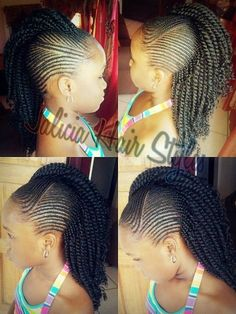 Little Black Kids Braids Hairstyles Picture