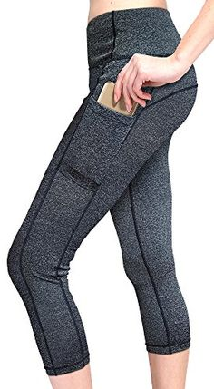 Hanes Women/'s Blocked Capri Leggings Sport Performance Activewear 5 Colors S-2XL