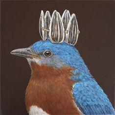 "Vicki Sawyer - Available ""Larger than Life"" Originals. Whimsical Art, Types Of Art, Animal Paintings, Bird Art, Beautiful Birds, Love Art, Pet Portraits, Pet Birds, Illustrators"