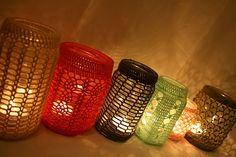 Crocheted Jar Cover by eLÍNeLLAN, via Flickr
