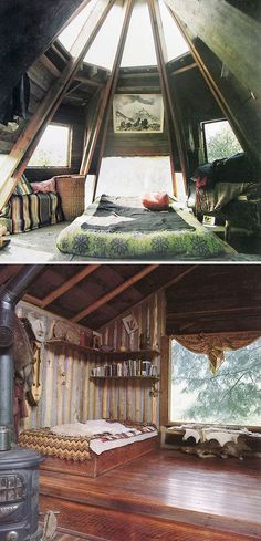 I would sleep here then wake up and paint all day except when I am reading and napping