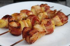 Pineapple & Bacon Chicken Kabobs