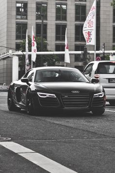 Black Audi R8.
