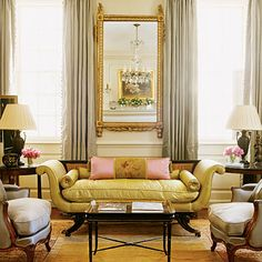 southern accents living rooms | The flowers in this Amelia Handegan living room above are simple and ...