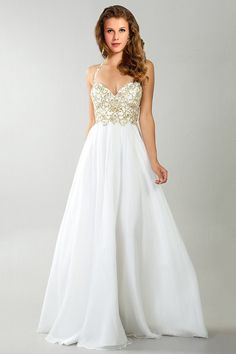 2014 Halter Beaded Bodice A Line Full Length With Shirred Chiffon Skirt
