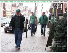 After our St. Patrick's Day breakfast at the Castlebay Irish Pub on Main Street here in Annapolis Maryland we did a little people watching. That is when we came across these three lads who were off in search of their next round of Irish Nectar. Photograph taken on March 17th 2012. Click on this image to view the original Annapolis Experience Blog post. Copyright © 2012 Annapolis Experience