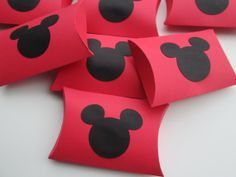 Mickey Mouse Pillow Boxes / Set Of 12 / by prettypapersprinkles, $6.25