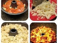 Pull Apart Pepperoni & Mozzarella Bread Recipe | Just A Pinch Recipes - great potluck idea!