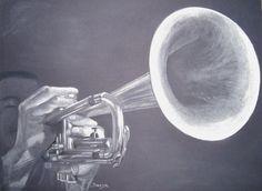 Trompette - Trompettiste - Swaze, peintre pastelliste