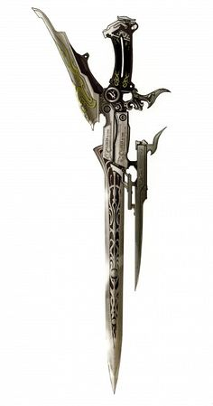 Some weapon art that came with the collector's edition of the game. Final Fantasy Weapons, Fantasy Sword, Swords And Daggers, Knives And Swords, Steampunk Weapons, Armas Ninja, Cool Swords, Sword Design, Anime Weapons
