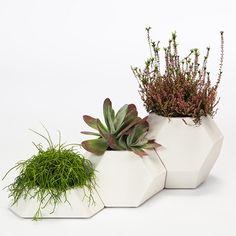 Ma-Ce-Ta Set of 3 Planters by Pott