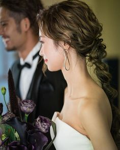 Evening Hairstyles, Bride Hairstyles, Pretty Hairstyles, Bridal Makeup, Bridal Hair, Wedding Styles, Wedding Photos, Hair Arrange, Hair Setting