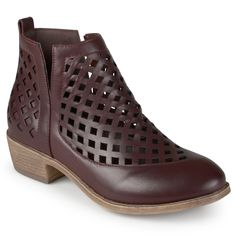 Journee Collection Women's 'Kat' Cut-out Caged Ankle Booties (- )