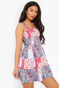 Dresses   Womens Dresses Online   boohoo UK Long Sleeve Smock Dress, Belted Shirt Dress, Bodycon Fashion, Skirt Fashion, Fashion Outfits, Midi Skater Dress, Skater Dresses, Maxi Bridesmaid Dresses, Wrap Dress Floral