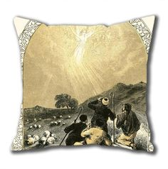 Novel Design Shepherds And Angel Standard Size Design Square Pillowcase/Cotton Pillowcase with Invisible Zipper in 40*40CM (5267)-52746 $21.88