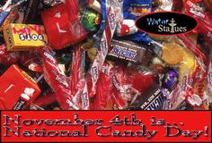 November 4 is #NationalCandyDay! In 300 AD, Egyptians, Aztecs and Mayans ate #candy. In 1896, Leo Hirshfield created #TootieRolls named after his daughter, Tootie. In the USA, 25 pounds of candy is eaten each year per person, but in Denmark, 36 pounds of candy is eaten per person.