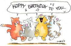 - Happy Birthday Funny - Funny Birthday meme - - The post appeared first on Gag Dad. Happy Birthday Minions, Happy Birthday Wishes Cards, Happy Birthday Baby, Happy Birthday Pictures, Birthday Blessings, Birthday Wishes Quotes, Singing Happy Birthday, Birthday Love, Cat Birthday