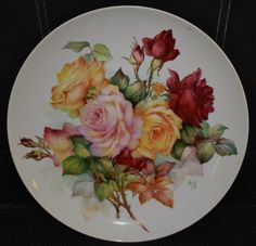 Cherryl Meggs uploaded this image to See the album on Photobucket. Decoupage Plates, Decoupage Vintage, Vintage Plates, Vintage China, Fruit Painting, China Painting, Ceramic Painting, China Plates, Plates And Bowls