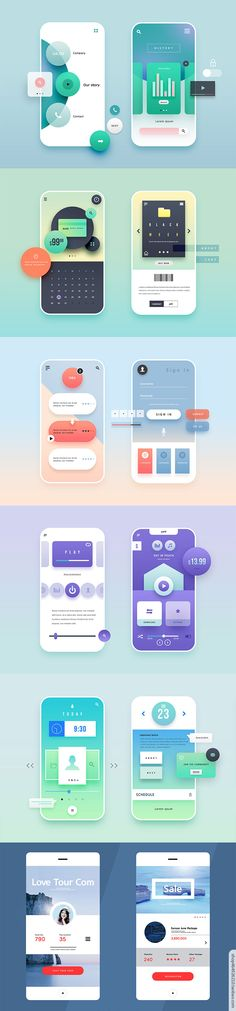 手机界面UI设计@甜芋葛格采集到UI、APP设计(272图)_花瓣 Interaktives Design, Design Logo, App Ui Design, Layout Design, Flat Design, Interface Web, User Interface Design, Webdesign Layouts, Android App Design