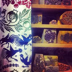 Beautiful linens and traditional stamps in Santarcangelo - Instagram by @Jeanette Kramer