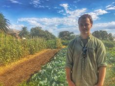 Northeastern University Biology major Kevin at this gorgeous city farm in Cape Town, ready to start his environmental sustainability internship! Biology Major, City Farm, Ready To Start, Volunteers, Cape Town, Sustainability, Vineyard, University, Environment