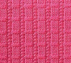 Every Saturday I will share with you a new stitch.Today's stitch is: Waffle RibsEasy knitting stitch with ribs consisting of small stockinette and reverse stock