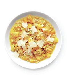 Butternut Squash and Barley Risotto | Think butternut squash's only good for soup (or Thanksgiving)? Squash any preconceived notions and see how versatile butternut can be.