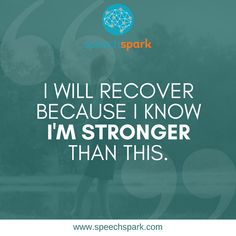 Certified Speech-Language Pathologist specializing in aphasia stroke recovery . Speech therapy services provided in the Green Bay area, and online throughout Wisconsin. Injury Quotes, Stroke Recovery, Aphasia, Motivational Quotes, Inspirational Quotes, Senior Activities, Recovery Quotes, Traumatic Brain Injury, Monday Quotes