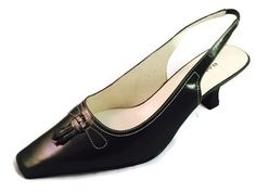 "BANDOLINO BDINES Size 8 M Green Leather Slingbacks Womens Shoes 1"" heel EUC #Bandolino #Slingbacks #WeartoWork"