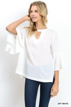 Solid top with front and back keyhole detail  #instashop #ootd #fashiongram #onlineboutique #stylish #shopthelook #needthisinmylife #boutiques #shopping #simpleoutfit