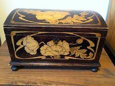 Antique Art Nouveau wooden box