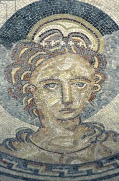 Venus (mosaic). Roman, (3rd century AD) / Bignor Roman Villa, West Sussex, UK / Ancient Art and Architecture Collection Ltd. / The Bridgeman Art Library