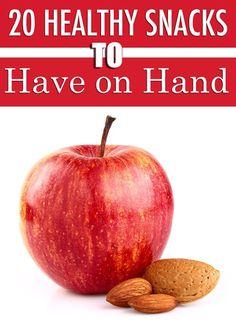20 Healthy Snacks to Have on Hand. #healthysnacks #lowcaloriesnacks #snacks