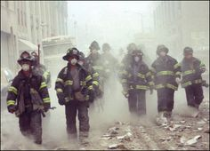 9/11 is a day that changed the world. The men in this picture saw what they were going into that morning, but they still went inside. They risked everything just in the hopes that they could save a complete stranger. #Onebravething