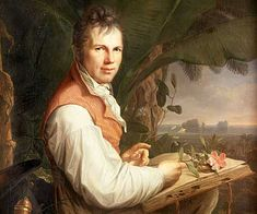 Alexander von Humboldt (September 14, 1769 – May 6, 1859) was a Prussian geographer, naturalist and explorer, whose quantitative work on botanical geography laid the foundation for the field of biogeography.  Between 1799 and 1804, Humboldt travelled extensively in Latin America, exploring and describing it for the first time in a manner generally considered to be a modern scientific point of view. http://en.wikipedia.org/wiki/Alexander_von_Humboldt