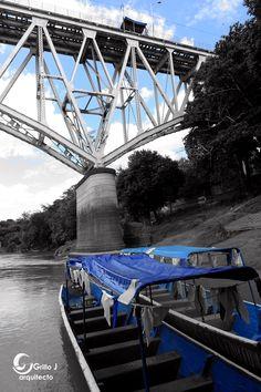 Puente tren, río Magdalena, Girardot, Colombia