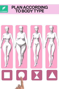 according to body type. Choose the shape of your body and get the right plan with the right exercises that you need to get your body toned. Choose the shape of your body and get the right plan with the right exercises that you need to get your body toned. Full Body Strength Workout, Quick Full Body Workout, Summer Body Workouts, At Home Workouts, Yoga For Weight Loss, Weight Loss For Women, Exercise To Reduce Stomach, Pilates, Flexibility Workout