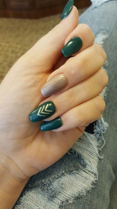 Forrest Green Fall Nails