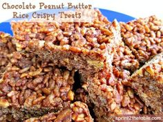 Chocolate Peanut Butter Treats by Sprint 2 the Table