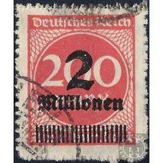 German Reich 1923 - Digit - 2,000,000 Mark Ø   Euro 119.99