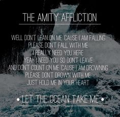 Don't lean on me// The Amity Affliction
