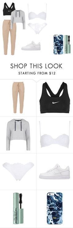 """""""Zoe #22"""" by inestrindade on Polyvore featuring NIKE, Topshop, La Perla and Too Faced Cosmetics"""