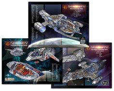 Firefly Serenity Cutaway Poster Set  Dreams  Firefly