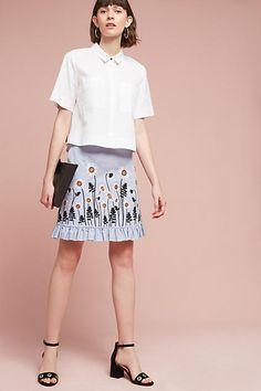 Orla Kiely Daisy Chambray Skirt