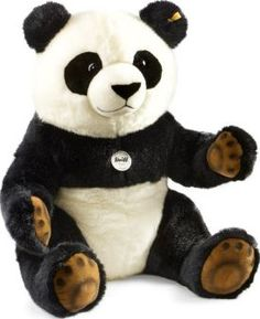 Steiff Pummy Panda `One size Eyes : Plastic Details : Fur Composition : 77% Acrylic, 23% Cotton Length : 70 cm, Width : 60 cm, Height : 60 cm. Conforms to CE standards Hand wash only, Do not tumble dry http://www.comparestoreprices.co.uk/january-2017-7/steiff-pummy-panda-one-size.asp