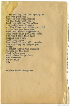 Typewriter Series #1175 by Tyler Knott Gregson*Chasers of the Light, is available through Amazon, Barnes and Noble, IndieBound , Books-A-Million , Paper Source or Anthropologie *