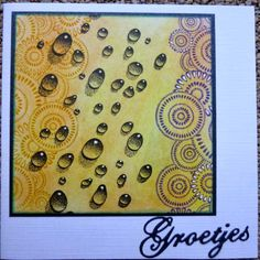 Eveliens blogpagina: using Designs by Ryn: Water Droplets and Circle Cluster Set (stamps)